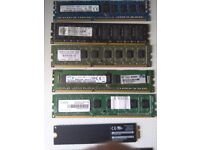 pc memory ddr3 and ddr4 + ssd 64gb card