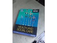 Btec first health and social care book.