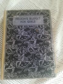 NELSONS BUDGET FOR GIRLS 1937 ANTIQUE BOOK