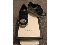 ORIGINAL Gucci Beige and Navy GG Print Trainers!!