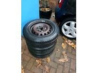 "14"" steel renault wheels & tyres 175/65/14"
