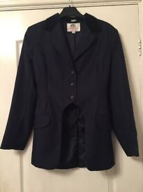 Harry Hall ladies navy cut away competition jacket