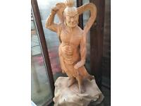 Japanese warrior carving