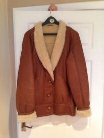 Ladies leather and sheepskin jacket