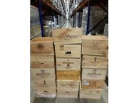 6 bottle size wooden wine box/crate/storage unit - FREE SHIPPING