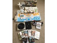 MASSIVE BUNDLE - Nintendo Wii Console + Wii Fit Board + DJ Turntable + Dance Mat + 13 Games + More
