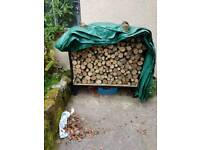 Log wood storage unit