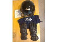 Arai helmet and gloves