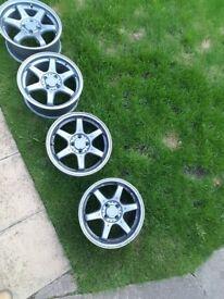 Set of 4 fox motorsport wheels
