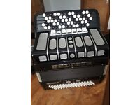5 Row Button box accordion