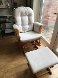 Kub Haywood Glider Nursing Chair and Footstool