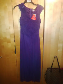 PURPLE DRESS SIZE 10 (BRAND NEW) - WEDDINGS, BRIDESMAID, EVENING WEAR, PROM