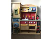 Little tikes wooden kitchen plus loads of extras