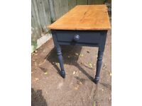 Wooden side table for sale!