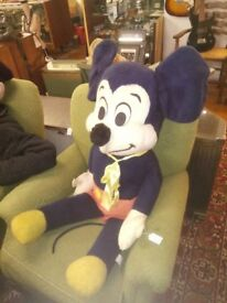 1960's rare blue mickey mouse teddy