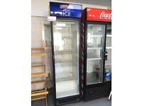 Smirnoff branded single door commercial drinks fridge