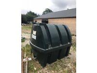 Single skin oil tank 1200 litres.