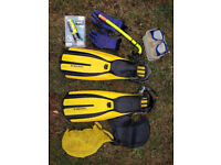 Goody bag of dive kit