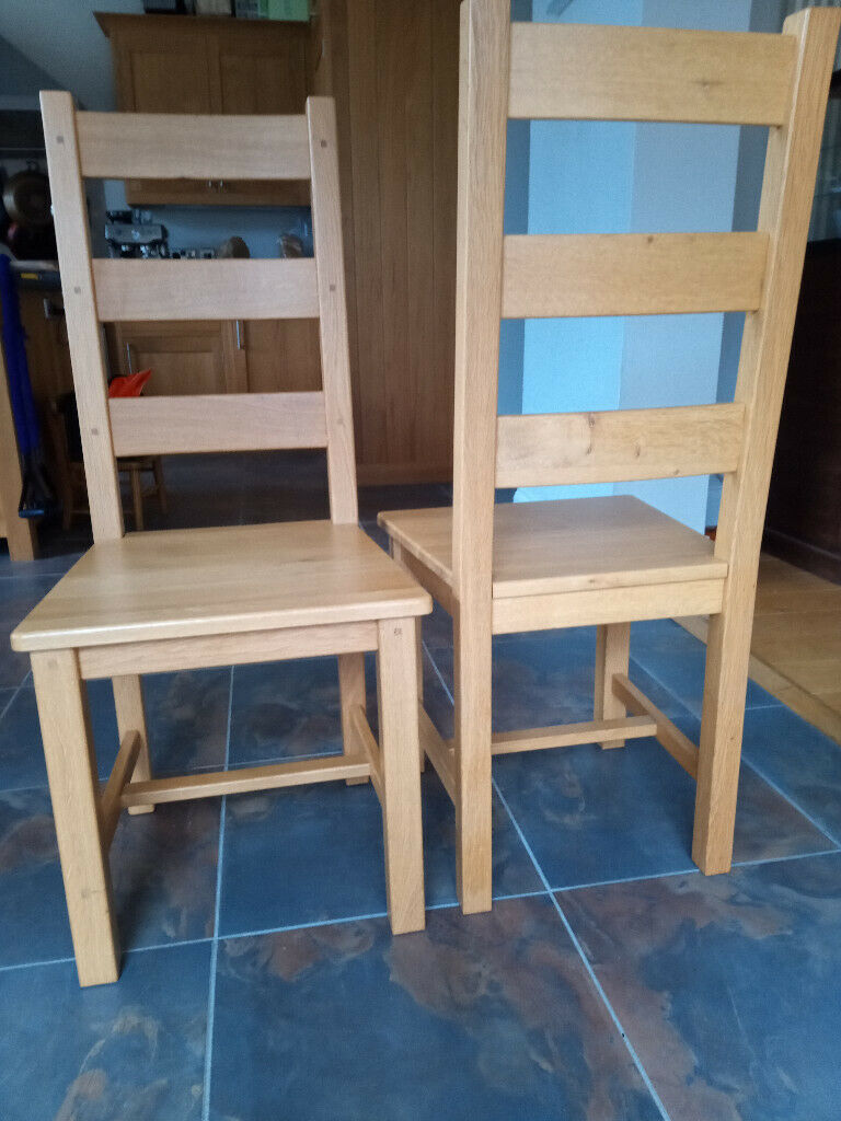 8 Dining Chairs Solid Oak Construction In Hampton London Gumtree