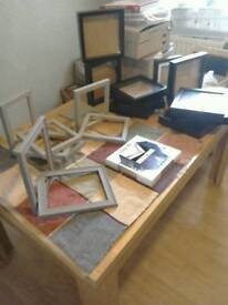 Lots of picture frames and extra deep frames (BARGIN)