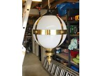 Six Decorative Ceiling Lights on chain