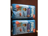 2 packs nappy Huggies pull up pants large boys