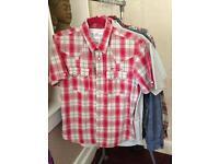 3 x Mens short sleeved shirts