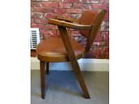 Vintage Mid Century 1950's Wooden Armchair Retro Brown