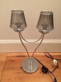 John Lewis silver table lamp, ideal reading light or bedside light
