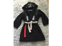 Kids Darth Vader Fleece Dressing Gown