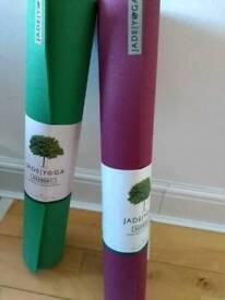 Jade Yoga Harmony Mat Raspberry, Jungle Green NEW