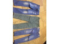 3 pairs of girls jeans