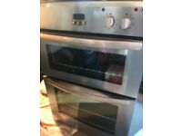 Built in double fan oven with gas hob
