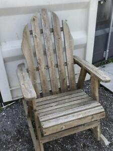 Oakville RUSTIC ROCKER  Weathered Wood Rocking Chair Porch Summer Seat patio Farmhouse Garden Country