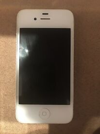 IPHONE 4 16GB UNLOCKED TO ALL NETWORKS WHITE