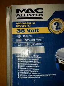 Macallister 36v battery & charger
