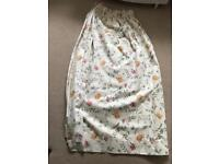 Floral curtains with hand ties