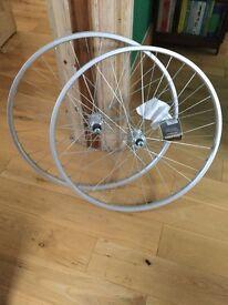 """Raleigh 26"""" single speed rear wheel + front wheel"""