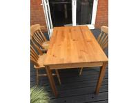 Farm house table with 3 chairs