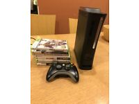 Xbox 360 Elite - 1 controller plus 6 games