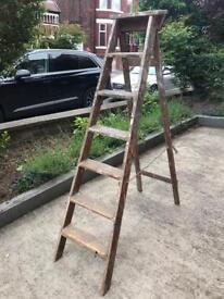 Retro Wooden Stepladder