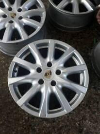 Porsche alloy wheels vw alloys no tyres