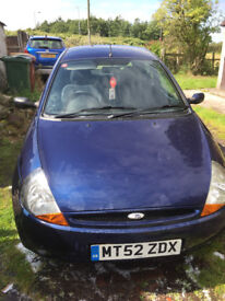 FORD KA 1.1 RUNS OK Except Airbag Light Stays On. Dark Blue. New Clutch Fitted.