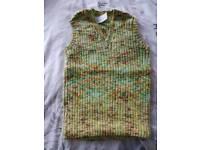 Handknitted vest top