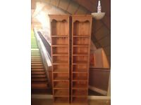 **** Bookcases - Tall Narrow bookcases X 2 ****