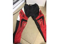 "Kids Alpinestars motocross gear top and 26"" trousers £20"