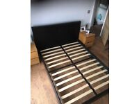 SOLD!!! Leather double bed frame