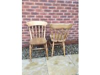 4 pine kitchen chairs