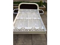 1970's white plastic molded double bed