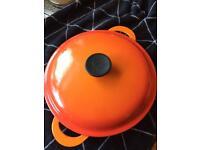 Le Creuset Shallow Casserole 26cm Vulcanic orange
